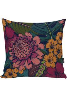 Capa Para Almofada Flowers- Rosa & Laranja- 45X45Cm
