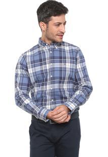 Camisa Tommy Hilfiger Reta Xadrez Azul