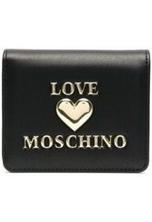 Love Moschino Carteira Dobrável - Preto