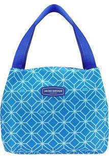 Bolsa Térmica Geométrica- Azul Azul Escuro- 23X19Xjacki Design
