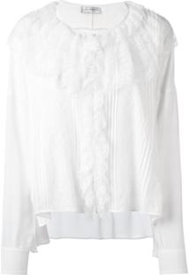 Faith Connexion Blusa Oversized Com Renda - Branco