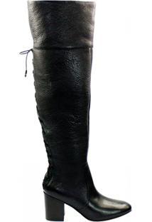Bota Over The Knee Capodarte Artigiano Work 4011604 - Feminino-Preto