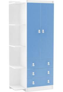 Guarda-Roupa Infantil Enzo 2 Pt 3 Gv Branco E Azul