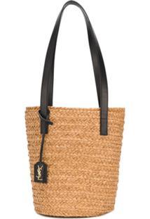 Saint Laurent Basket Effect Bucket Bag - Neutro