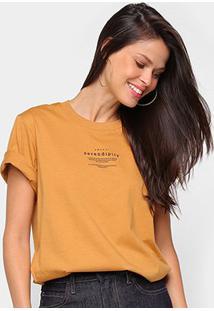 Camiseta Colcci Serendity Feminina - Feminino-Marrom