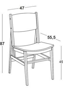 Cadeira Dumon Cor Cacau Com Rosa - 30789