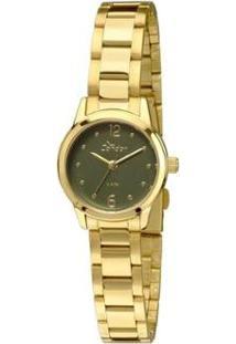 Relógio Condor Eterna Mini - Feminino-Dourado+Preto