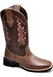 Bota Top Franca Shoes Texana - Feminino-Café