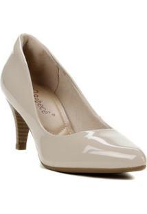 Sapato De Salto Feminino Bege