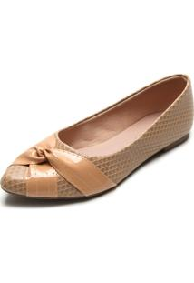 Sapatilha Dafiti Shoes Verniz Nude