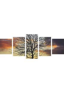 Quadro Decorativo Árvore Silhueta