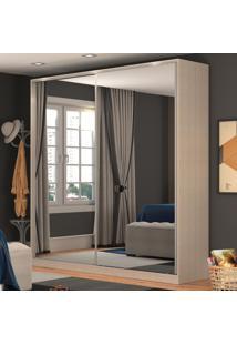 Guarda-Roupa Casal 2 Portas Correr 2 Espelhos 100% Mdf Rc2006 Noce - Nova Mobile