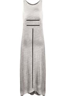 Thom Krom Stripe Print Midi Dress - Branco