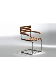 Cadeira Lami (Com Braços) Opção De Madeira Ebanizado