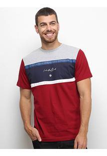 Camiseta Industrie Especial Bicolor Masculina - Masculino-Cinza+Vermelho