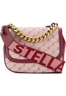 Stella Mccartney Bolsa Transversal Monogramada - Vermelho