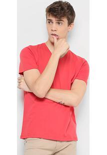 Camiseta Drezzup Gola V Masculina - Masculino-Vermelho