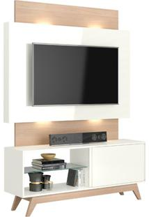 "Estante Home Tb141L Para Tvs De Até 55"" Off White / Natural"