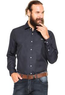 Camisa Mr. Kitsch Reta Azul-Marinho
