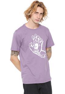 Camiseta Santa Cruz Screaming Hand Lilás