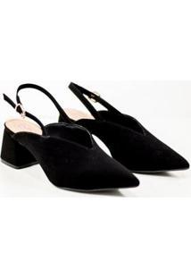 Sapato Bebecê Chanel Feminino - Feminino-Preto