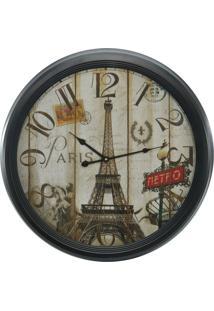 Relógio De Parede Torre Eiffel 62Cm Kasa Ideia - Tricae