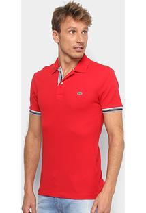 ... Camisa Polo Lacoste Piquet Slim Fit Masculina - Masculino-Vermelho 4ebc2705a8