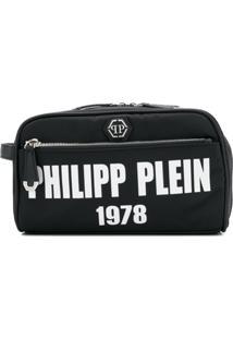 Philipp Plein Nécessaire Com Logo - Preto