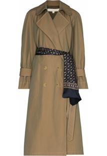 By Any Other Name Trench Coat French Com Abotoamento Duplo - Marrom