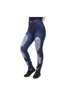 Calça Jeans Slim Destroyed Indy Jeans