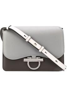Salvatore Ferragamo Classic Flab Two-Tone Shoulder Bag - Cinza