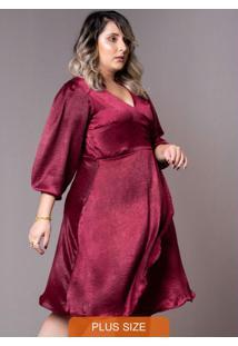 Vestido Ully Plus Size Vinho