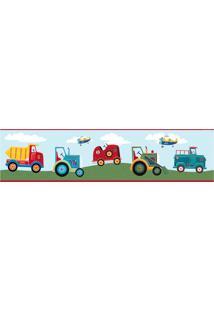 Adesivos De Parede Roommates Colorido Transportation Peel & Stick Border