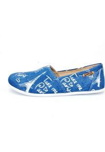 Alpargata Quality Shoes Paris Feminina - Feminino-Azul
