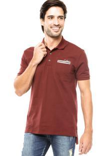 d8b32d7b3f ... Camisa Polo Calvin Klein Jeans Bolso Bordô