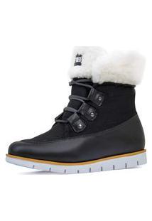 Bota Feminina Cozy Wooly Forro Thermal Warm Protection Ref.:21519