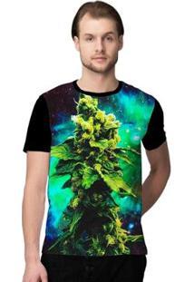 Camiseta Stompy Psicodelica21 - Masculino-Verde+Preto
