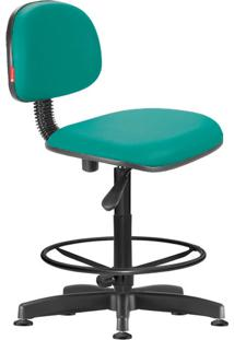 Cadeira Caixa Alta Secretária Giratória Courvin Verde Água