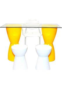 Conjunto Home Office Cor Amarelo - 29944 - Sun House