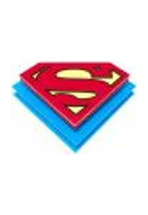Luminaria Plafon Super Homem 1 Lâmpada E27 Ld Vermelho