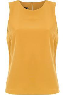 Corporeum Blusa 'Básica' Em Crepe - Amarelo