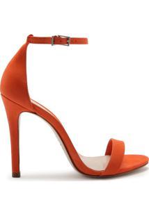 Sandália Gisele Nobuck Orange   Schutz