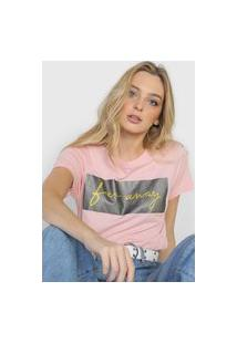 Camiseta Polo Wear Far Away Rosa