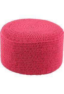 Puff Pastilha Crochê Rosa Stay Puff