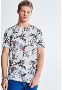 Camiseta Estampada Folhagens