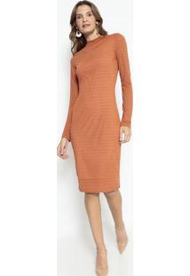 Vestido Texturizado - Laranja- Lança Perfumelança Perfume