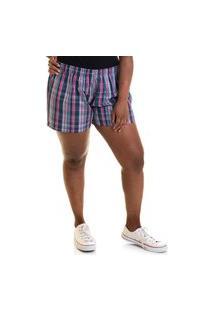Short Feminino Plus Size Sarja Fio Tinto 51837