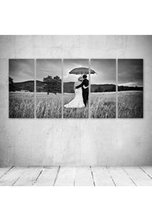 Quadro Decorativo - Love Couple - Composto De 5 Quadros - Multicolorido - Dafiti