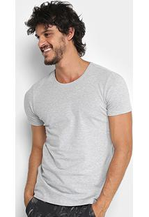 Camiseta Kohmar Lisa Cotton Masculina - Masculino-Cinza