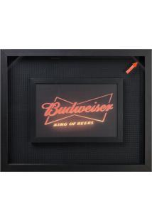 Quadro Porta-Tampas Budweiser Preto